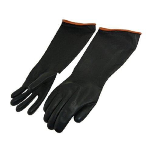Länge Handschuhe Schwarz Ellenbogen (Paar chemikalienbeständigkeit Industrie Ellenbogen lange Gummi Handschuhe 45,7cm)