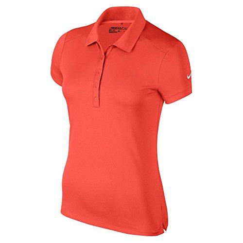 NIKE VICTORY–POLO DA UOMO, TINTA UNITA, Donna, W Nk Dry Ss, rosso/bianco, XL Arancione (max orange / white) (bianco)