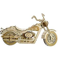 Unbekannt Holz BAU Spielzeug Set, DIY 3D Puzzle Motorrad, Hochpräzisions Laser Ausschnitt Holz Handwerk Montage Kit Für Kinder'geschenk