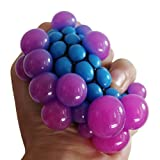 #6: ZLTFashion Anti Stress Face Reliever Grape Ball Autism Mood Squeeze Relief Healthy Funny Tricky Toy Funny Geek Gadget Vent Toy (Blue)