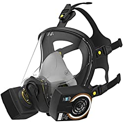 Máscara completa de filtrado en tamaño S M o L para un ajuste perfecto sin filtro de cambio | Respirador con menor resistencia a la respiración | antigás contra gases vapores