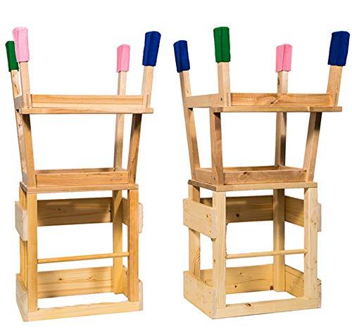 Deskiturm Lernturm Learning Tower by 4 Filzsocken für die Turmfüße - Lerntower Learning Tower Küchenhilfe Montessori (Rot)