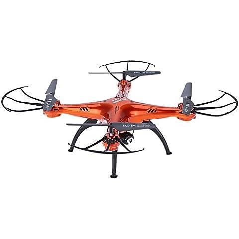 ILov SYMA X5SW X5SW-1 4CH 2.4G 6-Axis Gyro Headless Soporte móvil de Apple Control de IOS Android Wi-Fi Wifi FPV HD de 0.3MP cámara de 360 grados 3D balanceo Modo 2 RTF RC Quadcopter (Rojo, X5SW+5 en 1