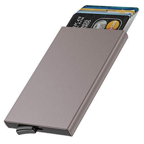 """Especificación: -Peso: 100g -Tamaño: 3.8"""" * 2.5"""" * 0.4""""/ 10 * 6.5 * 1.0 cm ( largo X ancho X alto) -Materia: aluminio de alta calidad -Paquete incluido: 1 * Dlife RFID Titular de la tarjeta Caracteristícas:  1) Empleando una cartera de aluminio con b..."""