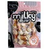 Dogaholic Milky Chews Knotted Bone with Chicken Dog Treat (10 Pieces)