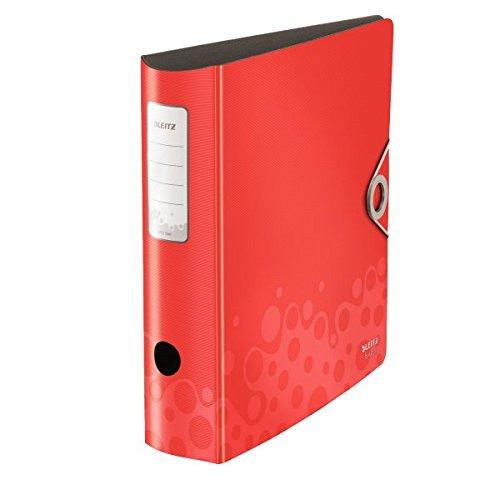 Preisvergleich Produktbild Leitz Multifunktions-Ordner, A4, Runder Rücken (8,2 cm Breite), Gummibandverschluss, Kunststoff, Active Bebop, Rot, 10470025