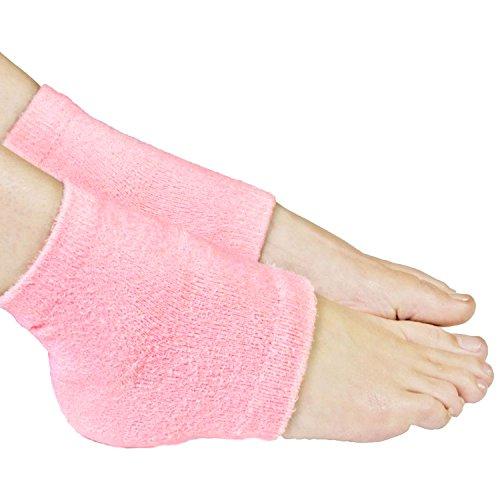 Galaxy Beauty Spa Gel Heel Socks Pink Moisturizing Repair Dry Rough Cracked Skin Toe Open Silicone Feet Care