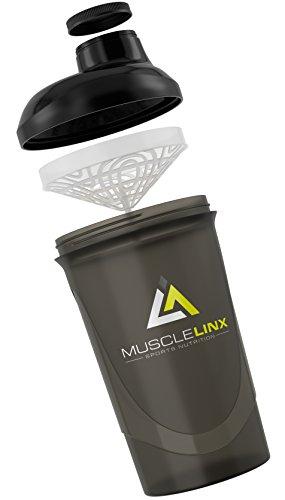 PROTEIN Shaker Schraubverschluss Trinkflasche 600ml bis 800ml von Musclelinx Sports Nutrition.