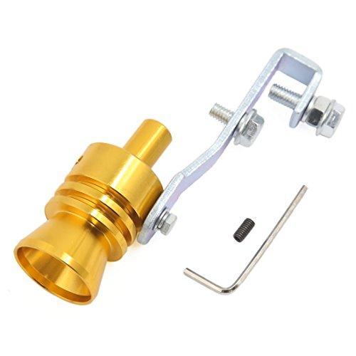 Preisvergleich Produktbild sourcingmap® Goldton Turbo Sound Whistle Schalldämpfer Auspuffrohr Simulator Whistler L Größe