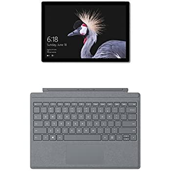 Microsoft Surface Pro Tablet, Processore Intel Core i5-7300U, 8 GB di RAM, SSD da 128 GB + Microsoft Surface Pro Signature Type Tastiera in Alcantara, Argento