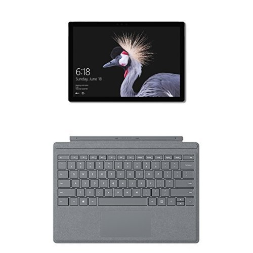 Microsoft Surface Pro Tablet, Processore Intel Core i5-7300U, 8 GB di RAM, SSD da 128 GB + Microsoft Surface Pro Signature Type Tastiera in Alcantara, Argento