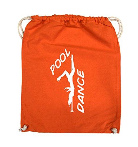 Comedy Bags - POOL DANCE - FIGUR - Turnbeutel - 37x46cm - Farbe: Schwarz / Pink Orange / Weiss