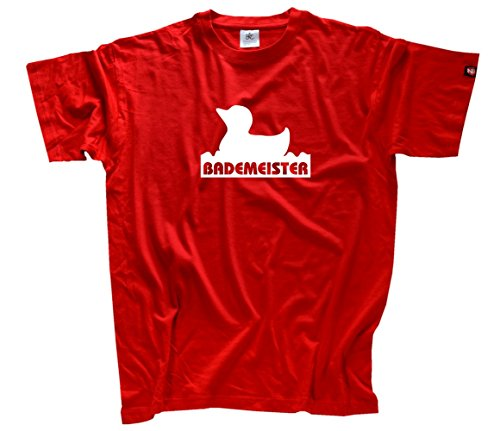 BADEMEISTER II MIT ENTE T-Shirt Rot L
