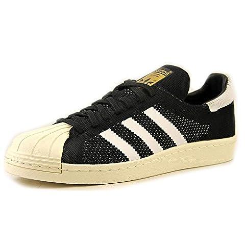 Superstar 80 Primeknit Mens In Black / white par Adidas,