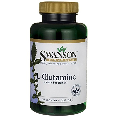 Swanson - L-Glutamine 500mg, 100 gélules - Complément Alimentaire à base de Poudre Bio-Active en capsules - Optimum Powder Nutrition - Natural Source Supplement