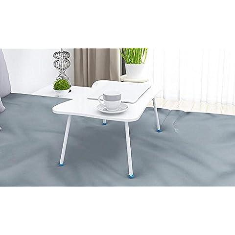 KHSKX Moda portatile tavolo pieghevole, tavolo multifunzione con letti, scrivania impermeabile dormitorio 60 * 40 * 29cm , a