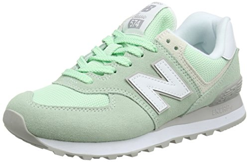 New Balance 574v2, Scarpa da Tennis Donna, Multicolore (Lime), 40 EU
