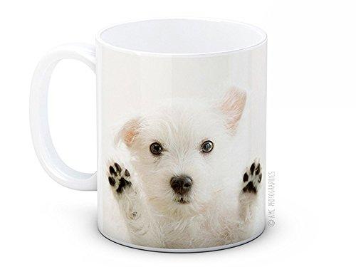 Tasse à café West motif Highland Terrier Westy Westie Puppy chiot chien
