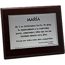 Amazon.es: placas conmemorativas