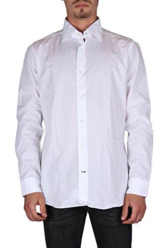 Truzzi uomo c1d9/1t82 camicie maniche lunghe slim fit made in italy bianco 38