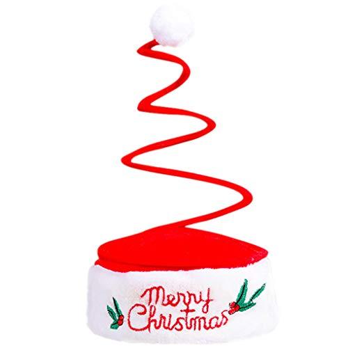 Skxinn Funny Weihnachtsmütze,verschiedene Modelle, Weihnachtsmann Mütze Weihnacht Nikolaus, Für Kinder & Erwachsene(B,One size)