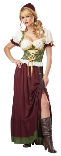 Costumes Womens Sexy Renaissance Wench Adult Halloween Costume (Lady Kostüme Adult Renaissance)
