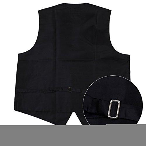 EGC2B.01 Serie Style Patterns Microfiber schwarz-back Kleid Tuxedo Weste von Epoint EGC2B03A-Grau Blau