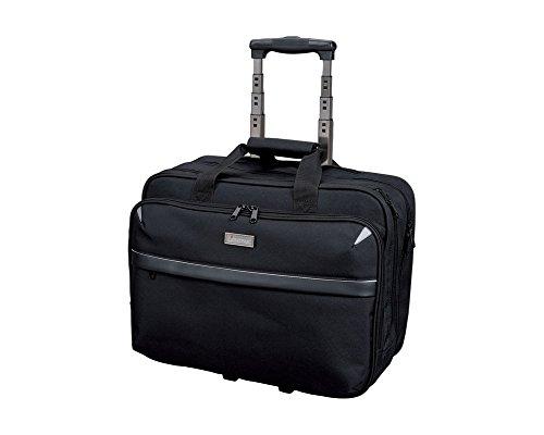 Rolling Laptop Case (Lightpak Business Laptop Trolley Xray Aktentasche, Schwarz)