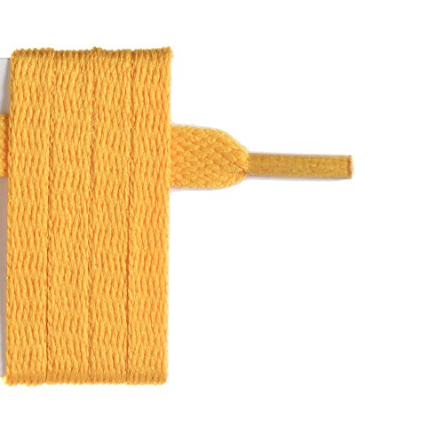 France-Lacets Lacets plat jaune moutarde 150 cm