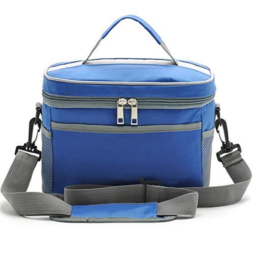 WERT Lunch Bag Grocery Bag Verstellbarer Schultergurt Auslaufsicherer großer Rucksack fürs Auto-Grillen,Blue - Die Schmutzabweisenden Tücher