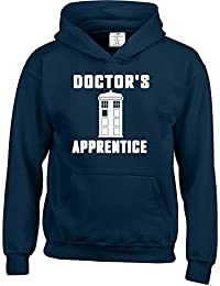 Doctor's Apprentice Dr Who inspired Kids Childrens Boys and Girls Hoodies. Free delivery included.