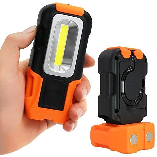 Preisvergleich Produktbild Gutyan Tragbare Led Arbeitslicht,  200 Lumen 5000 Karat Tageslicht Cob Taschenlampe Magnetfuß Hängen Haken Für Auto Reparatur Blackout Notfall