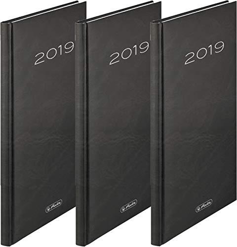 Herlitz Wochenkalender A5 Sidney 2019 (3 Stück, Schwarz) -