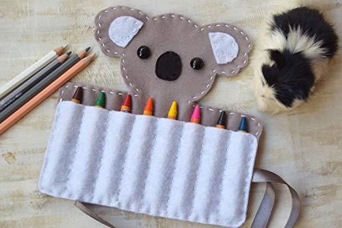 Koalabär Kreide Halter Filz Tier Caddy Organizer Veranstalter (Kreide-halter Für Kleinkinder)