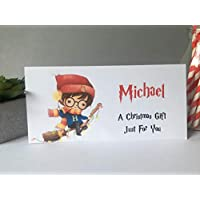 Personalised Christmas Card Money Gift Wallet Vouchers Cash Harry Potter