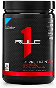 Rule One Protein Powders Pre Train 2.0 Blue Raspberry, 390 g