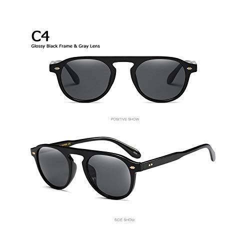 Sport-Sonnenbrillen, Vintage Sonnenbrillen, New Fashion Vintage Round Style Tint Ocean Lens Sunglasses Men Women Brand Design Sun Glasses Oculos De Sol 92106 C4