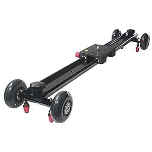 """Andoer 60cm / 24 """"piste vidéo Dolly curseur système de stabilisation vidéo coulissante pad avec Roues flexible pour caméra DV DSLR Caméscope"""