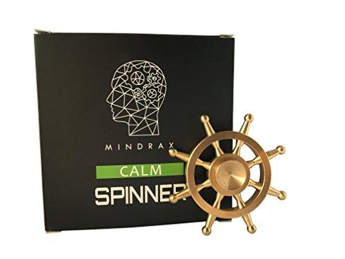 Mindrax Fidget Spinner CALM Edition | Geräuschlos spinnen - Ideal zum arbeiten & lernen | Hochwertige Verarbeitung - Drehzeiten von 3 Minuten+ | Edle Schiffsruder (Einem Pocket Drei In Trick)