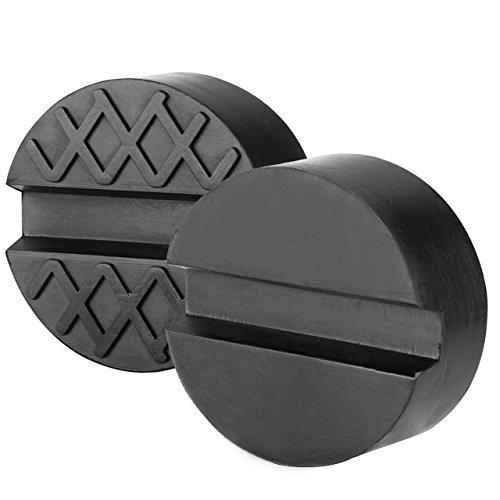 Preisvergleich Produktbild renxinu 2 Gummipuffer für Wagenheber Hebebühne Auto Brücke mit Nut für harte Robuste Universal Jack Pad 65 x 34 mm schwarz
