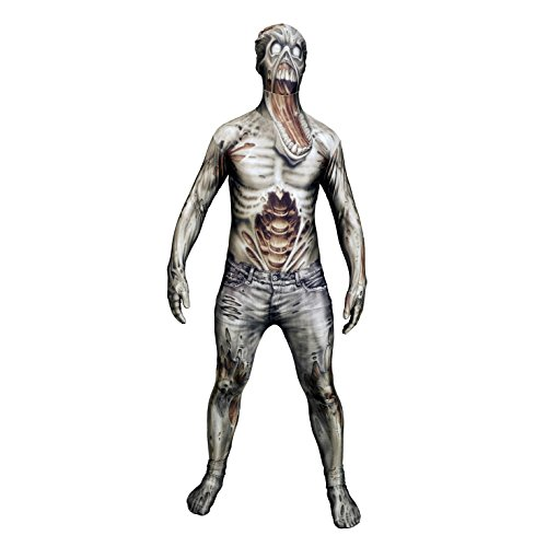 Halloween Party Zombie Morphsuit Ganzkörperanzug, Größe:Large