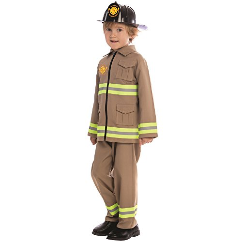 DRESS UP AMERICA - DISFRAZ DE BOMBERO KJ  PARA NIñOS  MULTICOLOR  TALLA XXS  2 AñOS (845-T2)
