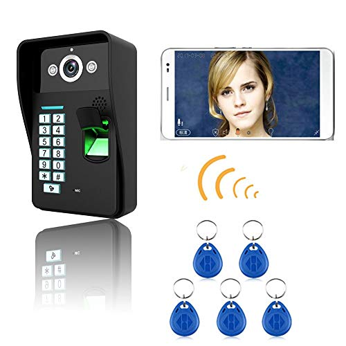 Visual Intercom (WG HD 720P Wireless WiFi RFID Password Fingerprint Recognition Video Door Phone Doorbell Intercom System Night Vision Waterproof Access Control System. Support Snapshot, Visual Intercom, Enlock,)