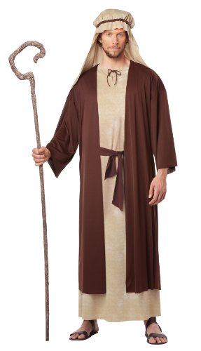 Kostüm Für Saint Erwachsene - California Fancy Dress Kostüm Jungen Erwachsene Saint Joseph Kostüm, - Moccaccino,Natural, Medium