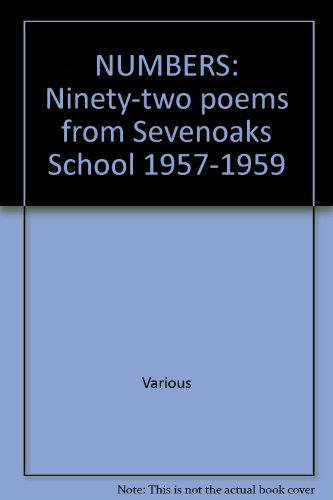 Numbers Ninety-two Poems from Sevenoaks School 1957-1959