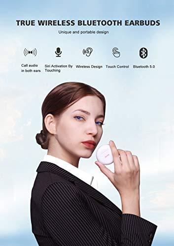 iDiskk Bluetooth Kopfhörer in Ear -True Wireless Earbuds Kopfhörer mit Bluetooth 5.0 Mikrofon Hi-Fi Stereo Ladekästchen für Huawei Xiaomi Android Smartphones alle Bluetooth-Gerät,Weiß - 2