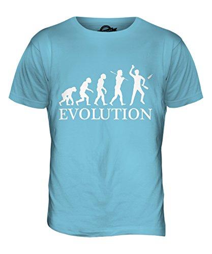 CandyMix Barkeeper Evolution Des Menschen Herren T Shirt Himmelblau