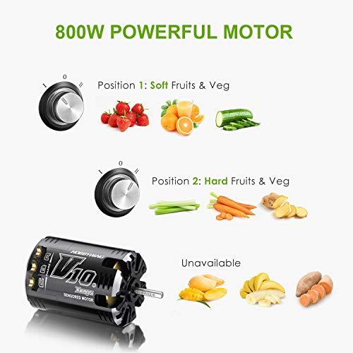 Zentrifugenentsafter 800W für Obst und Gemüse Bild 4*