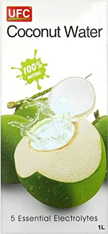 100% PURE COCONUT WATER *FREE U.K POST* 1 LITRE UFC PURE NATURAL COCONUT WATER 1L GENUINE