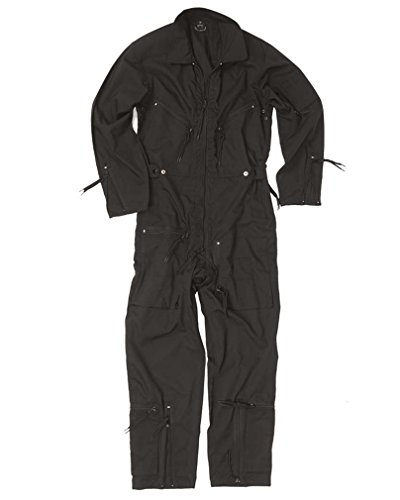 Mil-Tec BW Pilot Suit Olive New - Black, 56 Military Overall